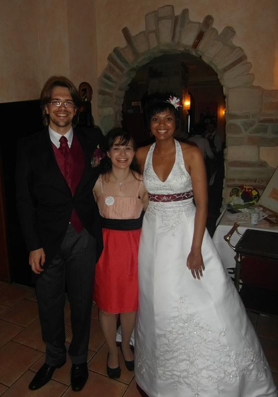 Nadine und Brautpaar
